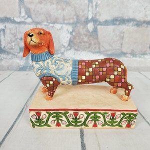 Jim Shore Longfellow Dachshund Dog Figurine 2005